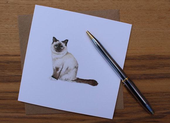 Birman Cat Greetings Card