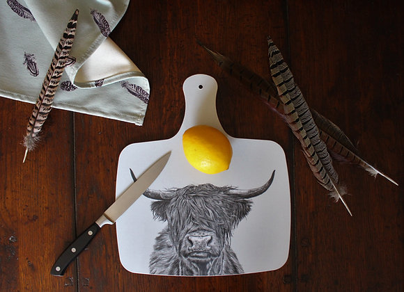 Highland Cow Cheese Board