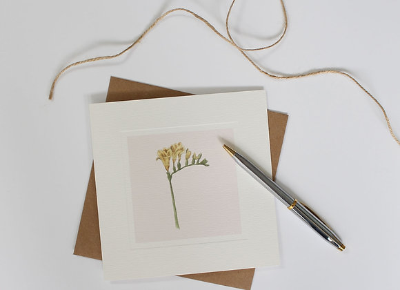 Freesia Greetings Card