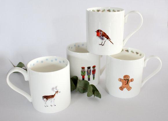 4 x Christmas Mugs