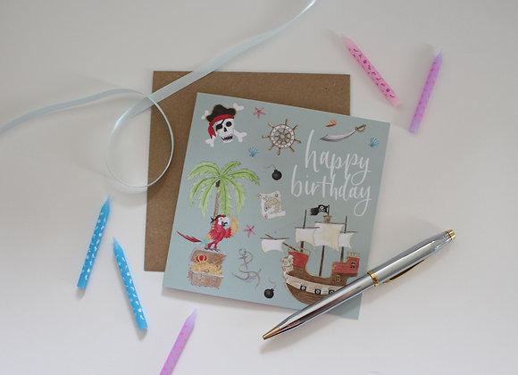 Pirates Birthday Card (Trade)