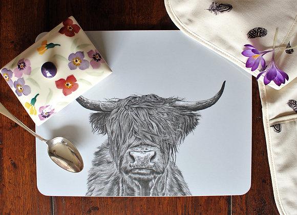 Highland Cow Serving Mat