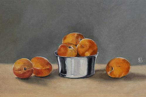 Apricots & Silver Bowl