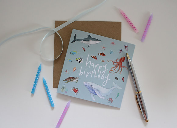 Under the Sea Birthday Card (Trade)