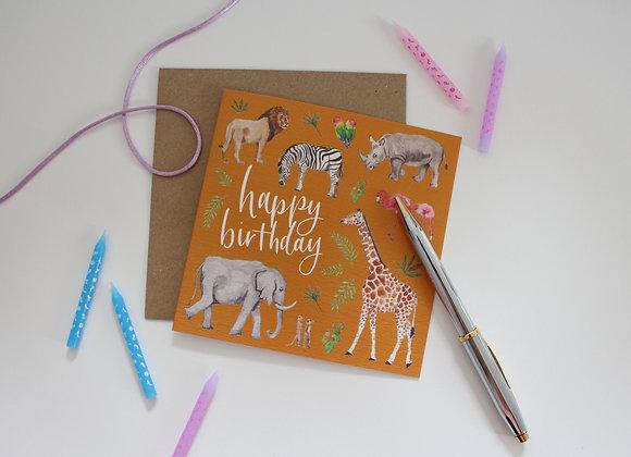 Safari Birthday Card