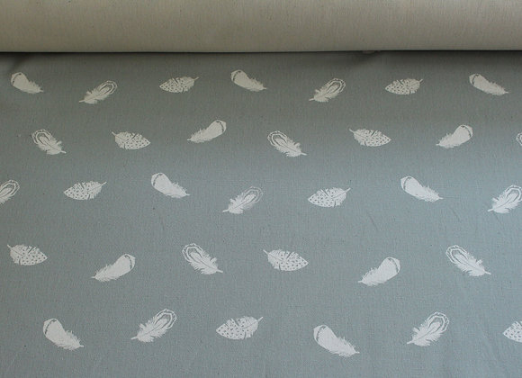 White Feather Fabric (per meter)