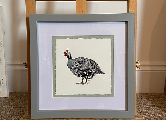Framed Original Guinea Fowl Watercolour