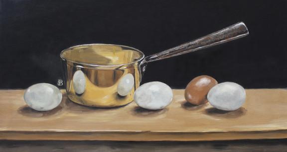 Copper Pan & Eggs