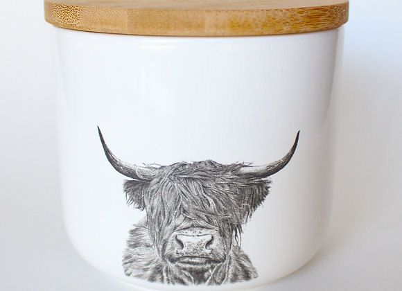 Highland Cow Storage Jar