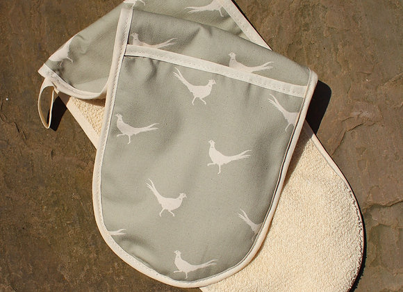 Pheasant Double Oven Gloves (Trade)