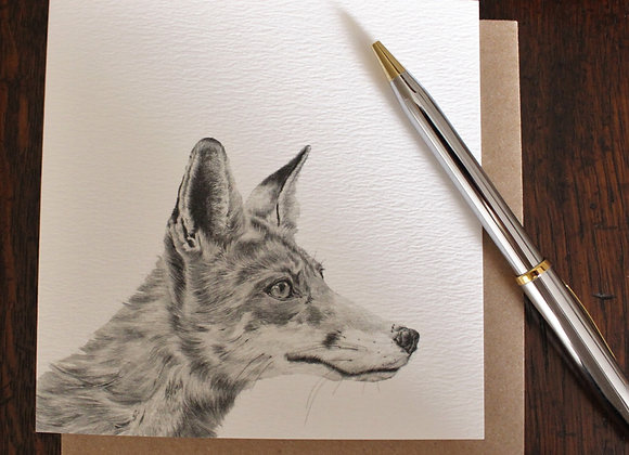 Fox Drawing Greetings Card