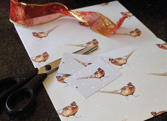 Pheasant Christmas Wrapping Paper (Trade)