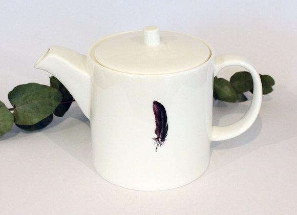Teal Feather Teapot