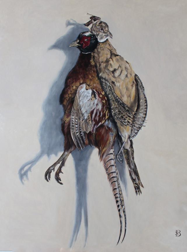 Hanging Brace of Pheasant