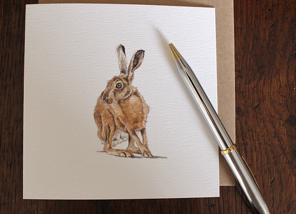 Brown Hare Greetings Card
