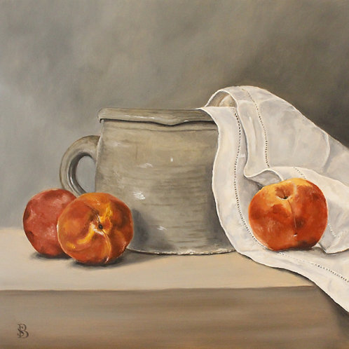 Large Jug & Peaches