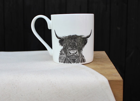 Highland Cow Head Mug