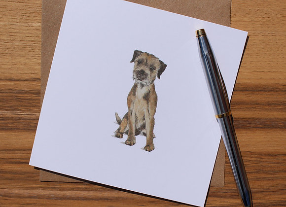Border Terrier Greetings Card (Trade)