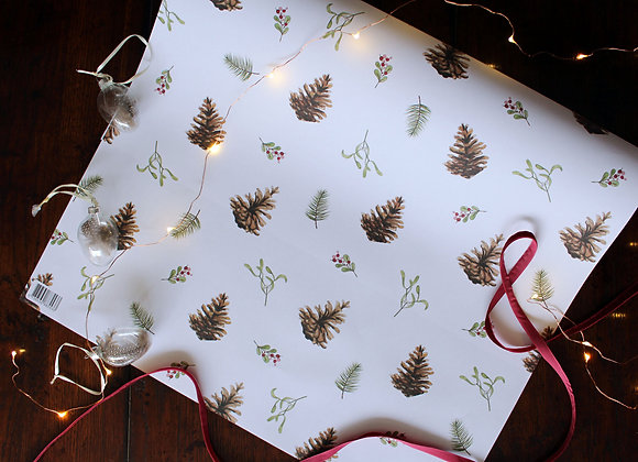 Fir Cone Christmas Wrapping Paper (Trade)