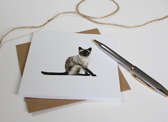 Siamese Cat Greetings Card (Trade)
