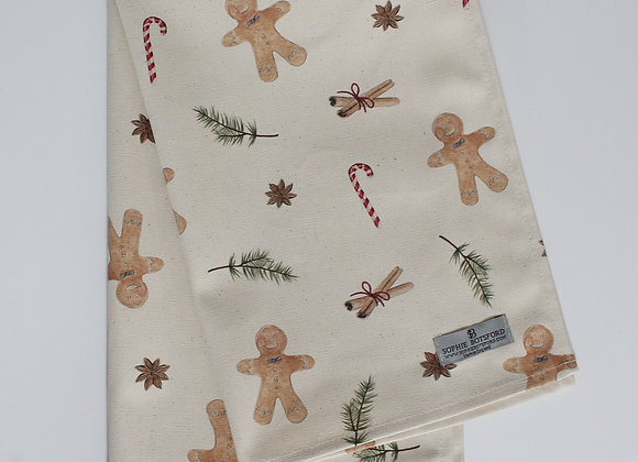 Christmas Gingerbread Men Tea Towel