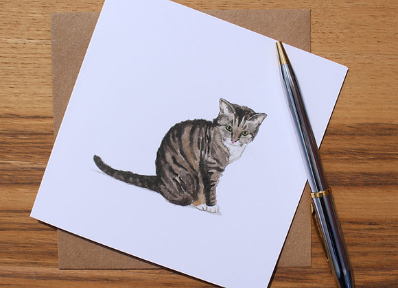 Moggie Greetings Card