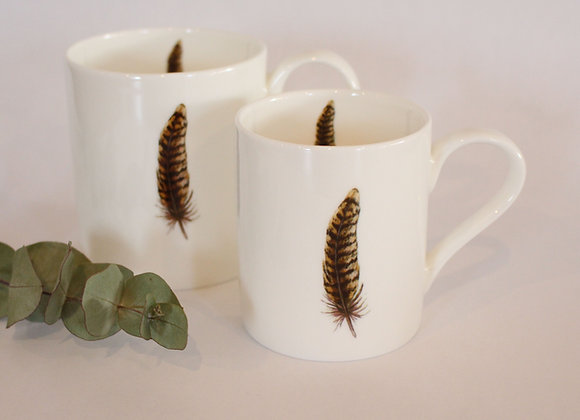 Pheasant Feather Mug