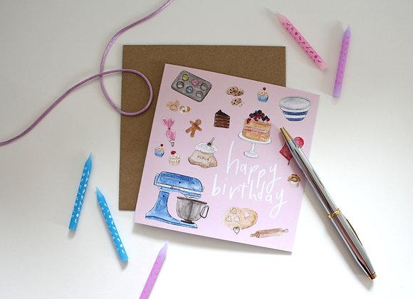 Lets Bake Birthday Card