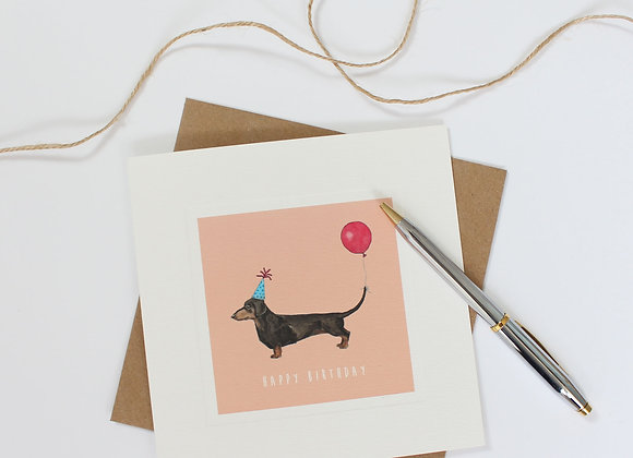 Party Dachshund Birthday Card