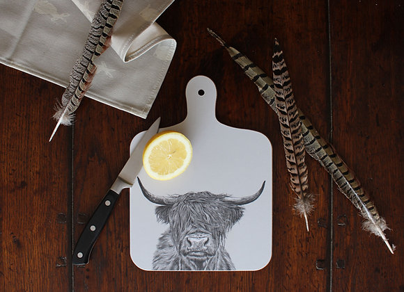 Highland Cow Small Chopping Board (Trade)