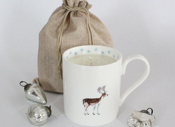Christmas Deer Candle