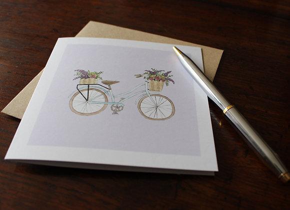 Bicycle Greetings Card