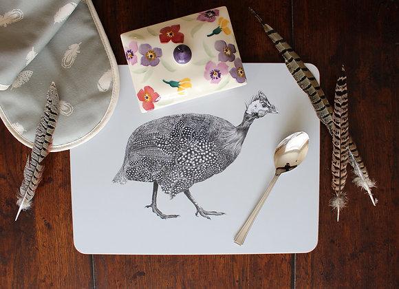Guinea Fowl Serving Mat (Trade)