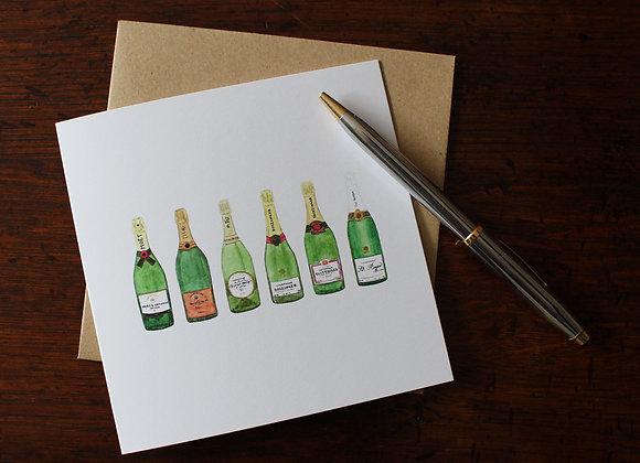 Champagne Greetings Card