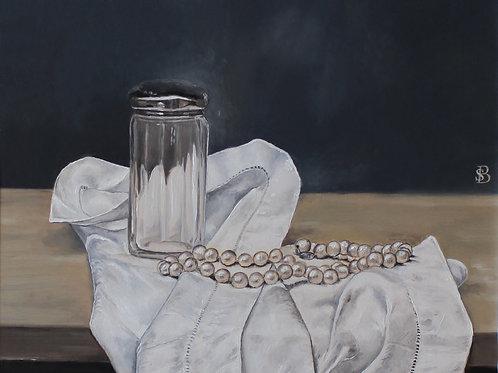 Pearls, Trinket Jar & Handkerchief
