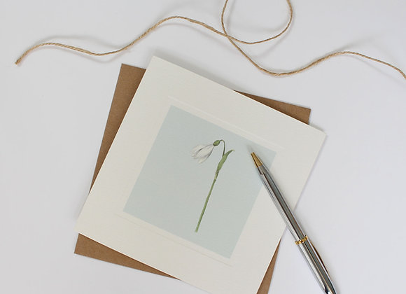 Snowdrop Greetings Card (Trade)
