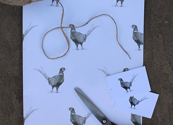 Pheasant Wrapping Paper
