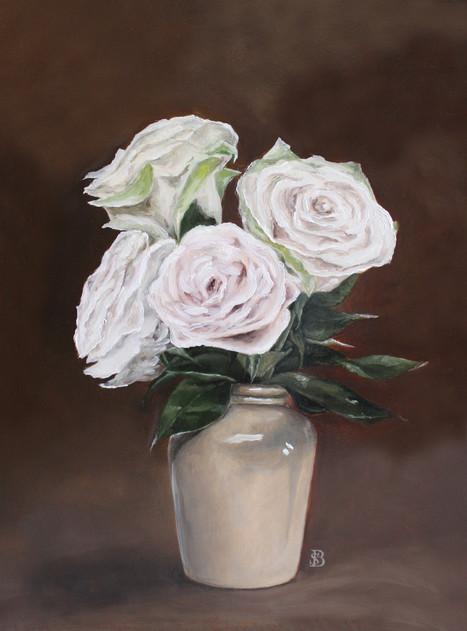 Vase of Blush Pink Roses
