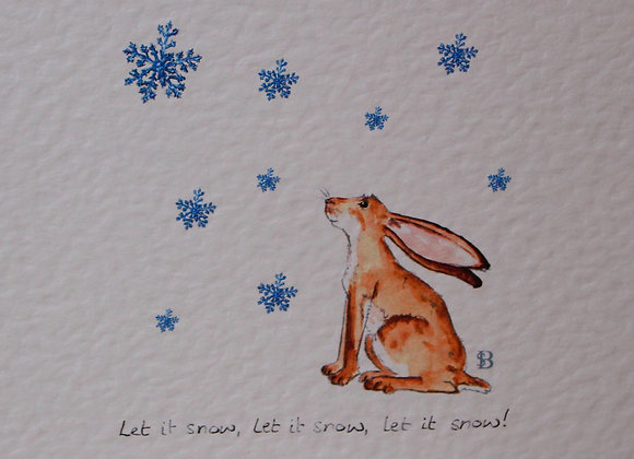 Hare & Snowflakes