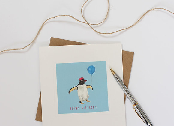 Party Penguin Birthday Card