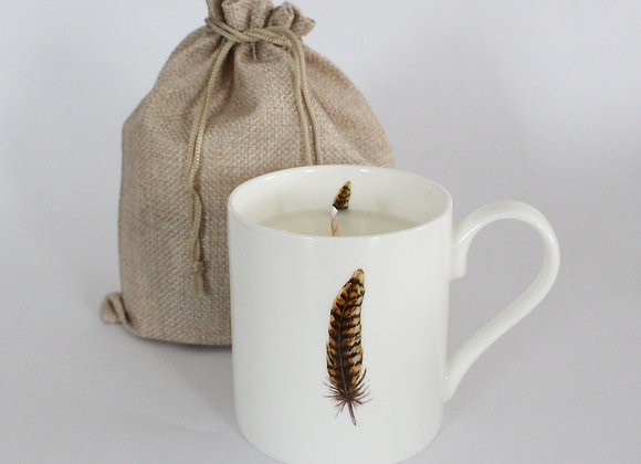 Pheasant Feather Candle