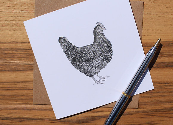 Chicken Drawing Greetings Card
