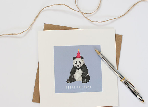 Party Panda Birthday Card