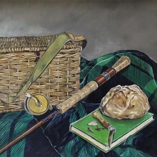 Fishing Basket, Rod & Reel