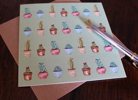 Cactus Greetings Card