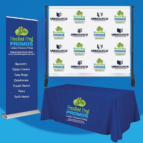 Tradeshow Kit - Banners and  8ft Table Cover - FABRIC