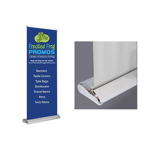 "FABRIC DELUXE Retractable Banner Stand 33"" x 81"""