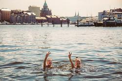Swimmers at Tervasaari
