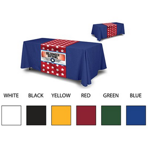 "8' Trade Show table cover _ full printed 36"" x 72"" table runner"
