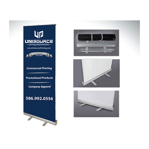 """FABRIC Standard Retractable Banner Stand 33"""" x 81"""""""
